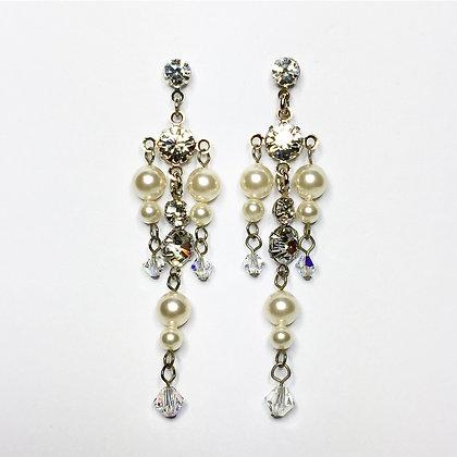 Swarovski Crystal/Pearl Chandelier EC4