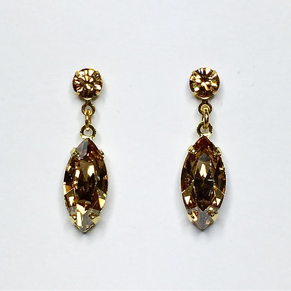 Swarovski golden shadow mini drops