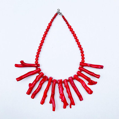 1.0 Red Coral Necklace N9