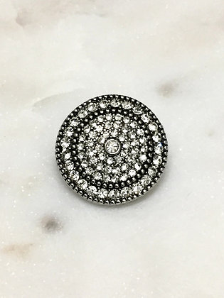 01 Crystal Silver Pop Button