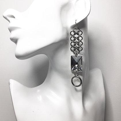 Rectangle Swarowski Crystal ChainMail E28