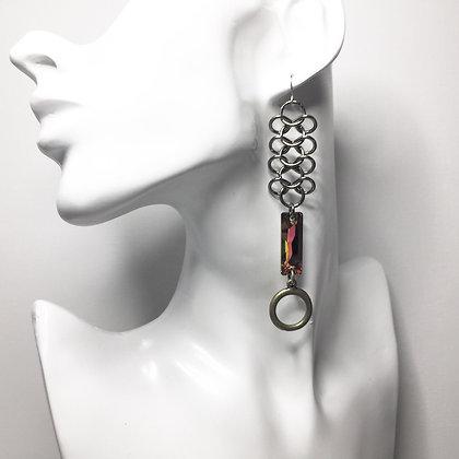 Rectangle Slim Swarovski Crystal ChainMail E29