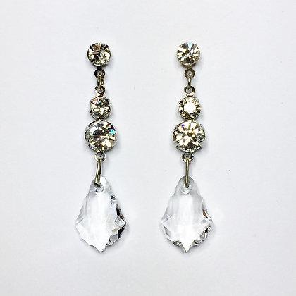 Swarovski crystal clear drops