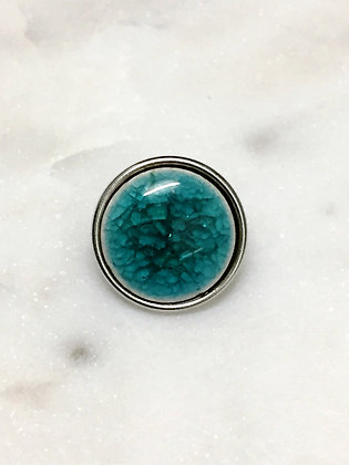 20 Turquoise Cracked Glass