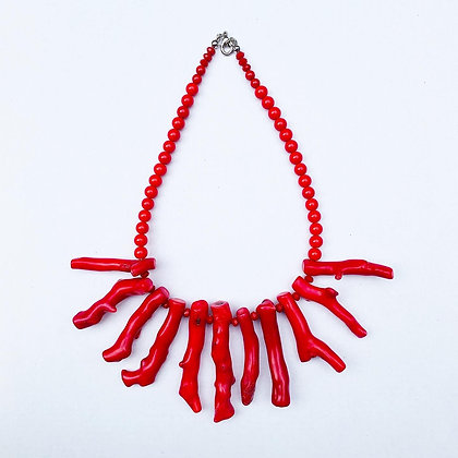 1.2 Red Coral Necklace N7