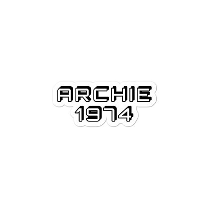 ARCHIE 1974 Bubble-free stickers