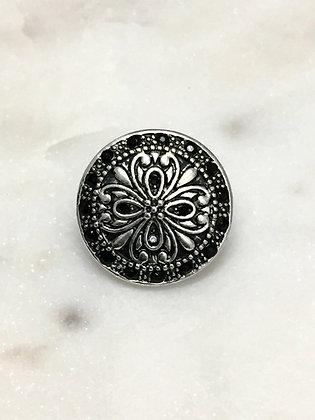 14 Antique Silver Black Crustals
