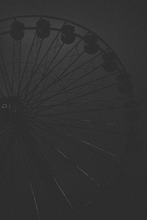 Ferris wheel at nigh