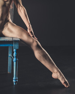 Blue Chair Nude #2