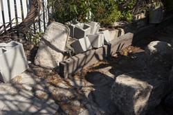 Concrete Blocks at Fence