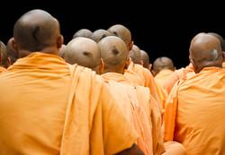 Hindu Monks in Meditation