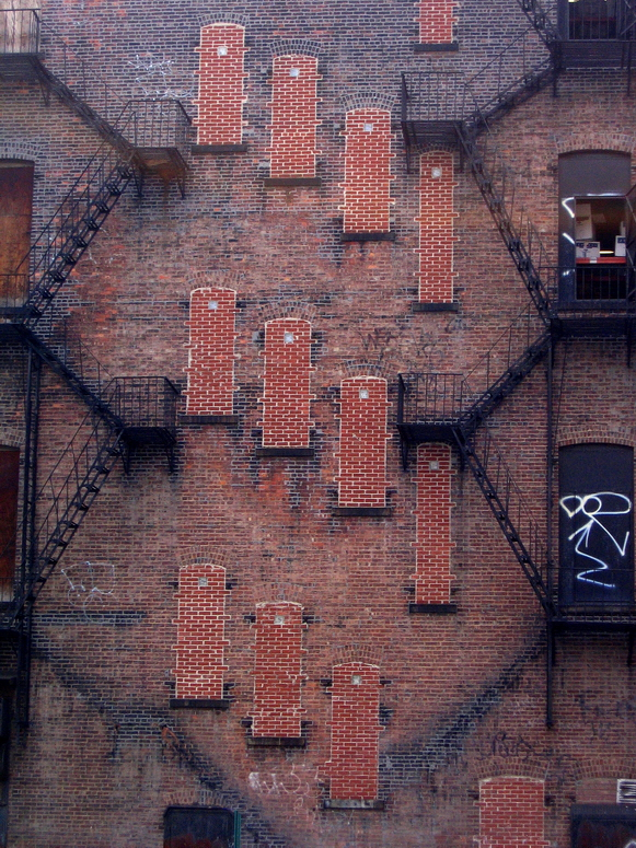 Wall With Fire Escapes