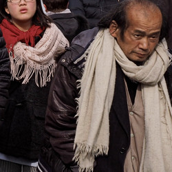 Man With White Scarf, Tokyo