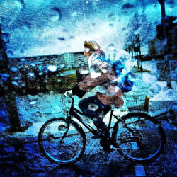 Biking in the Rain No. 1