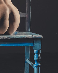 Blue Chair Nude #3