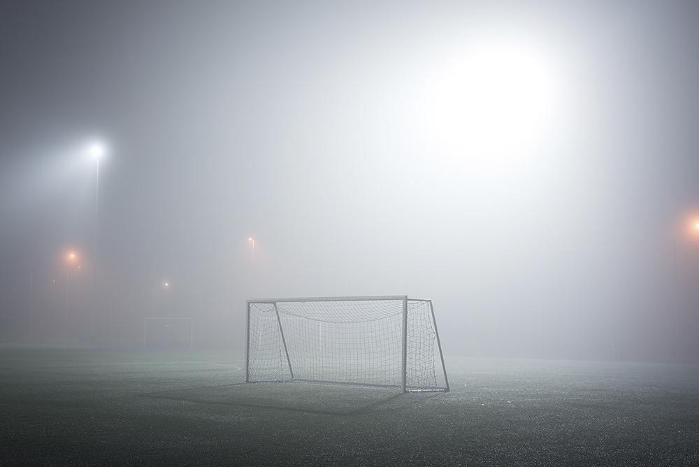 Soccer Goal in Fog