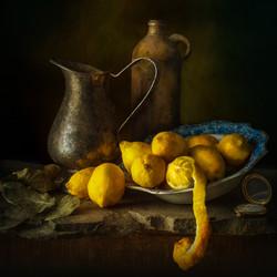 Lemons and Silver Jug