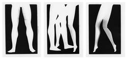 Prosthetic legs triptych