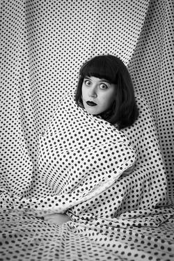 Self-portrait (Polka Dot Blanket)