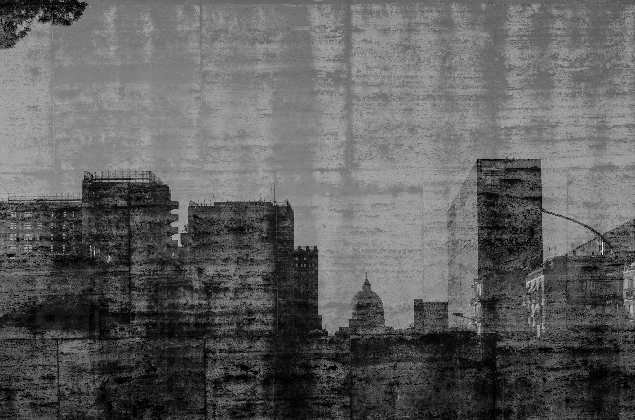E.U.R. double exposure (cityscape)