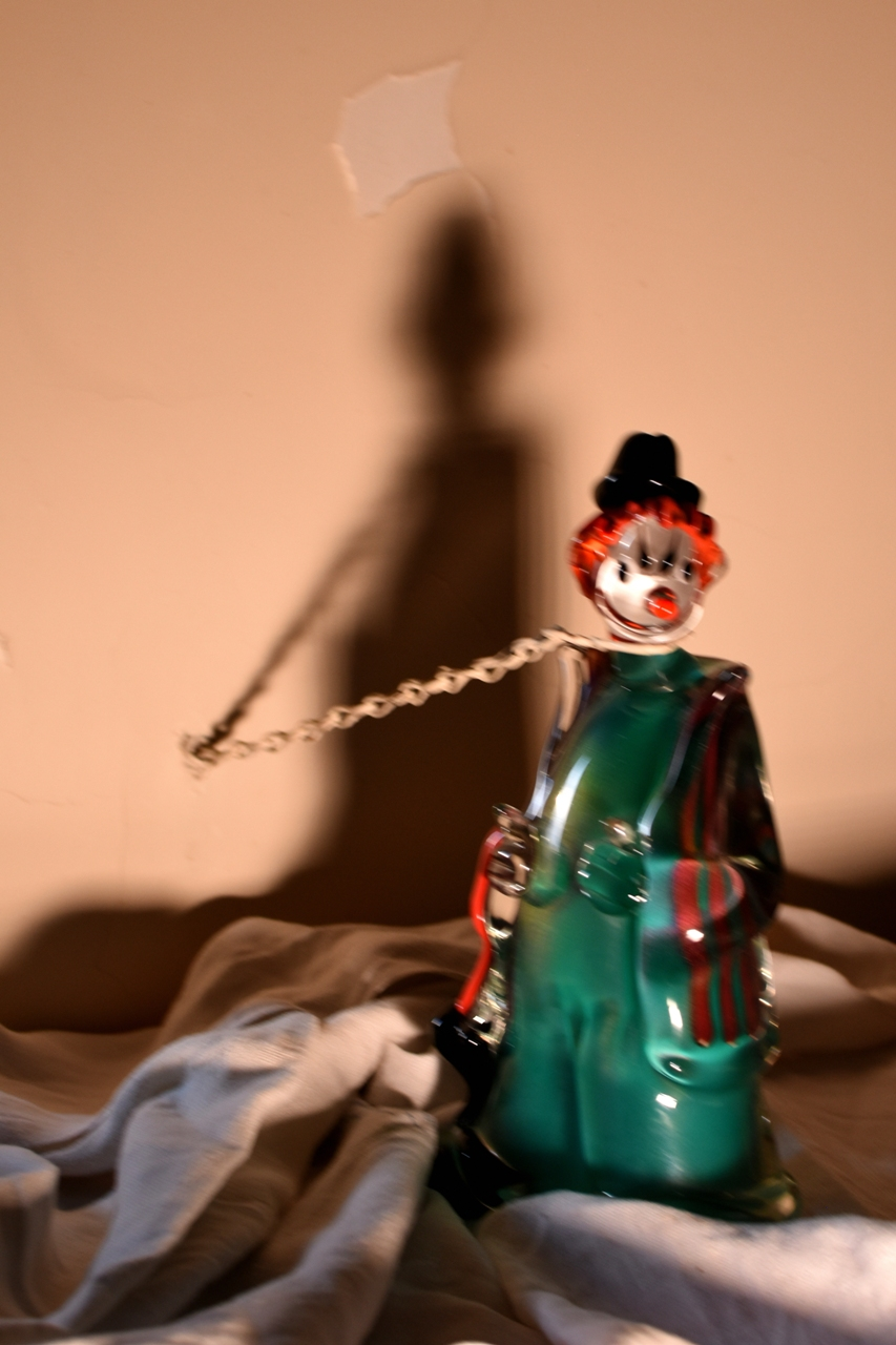 Clown in chains