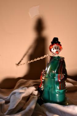 Clown in chains