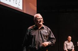 Javier Pena presenting in Sydney