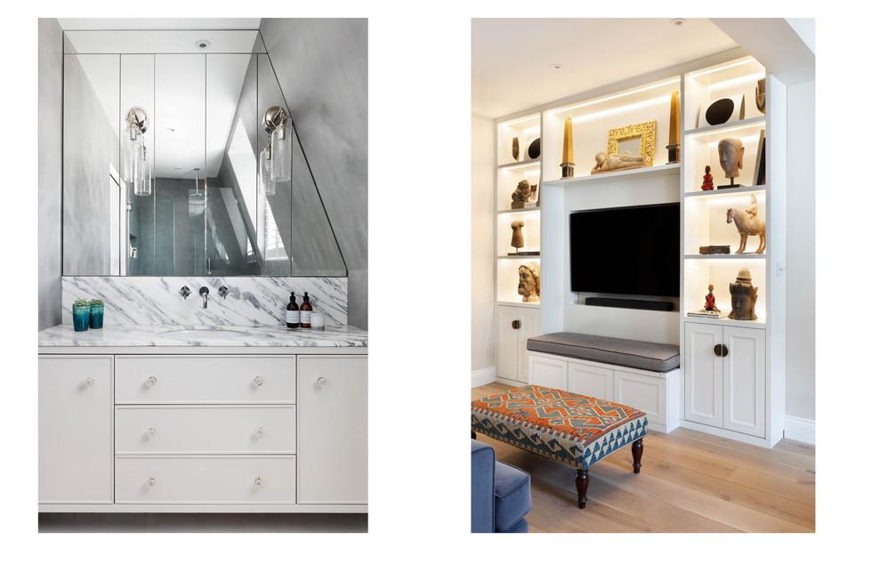 Bathroom and Living Room