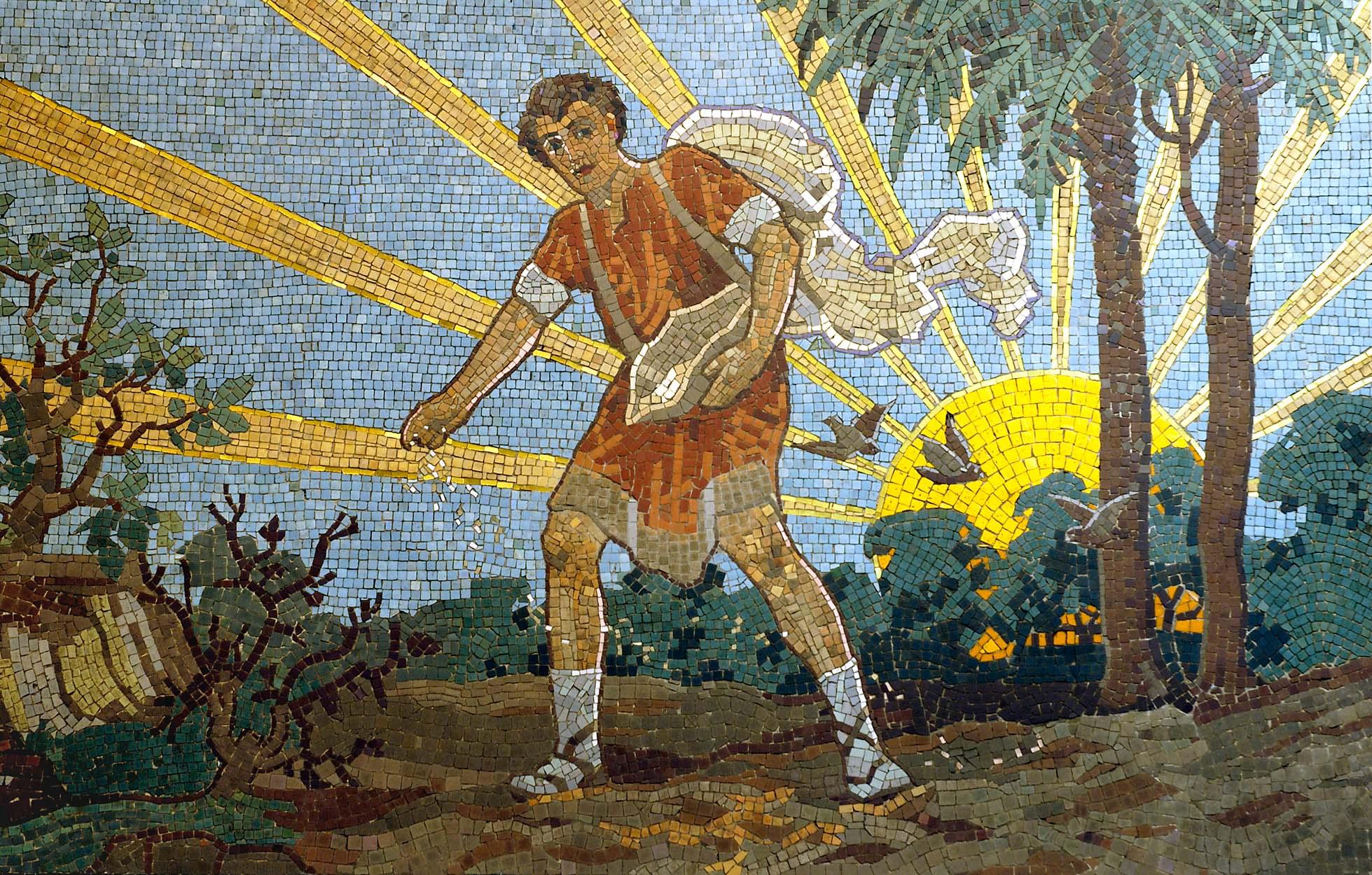 Sower mosaic ©John Crook