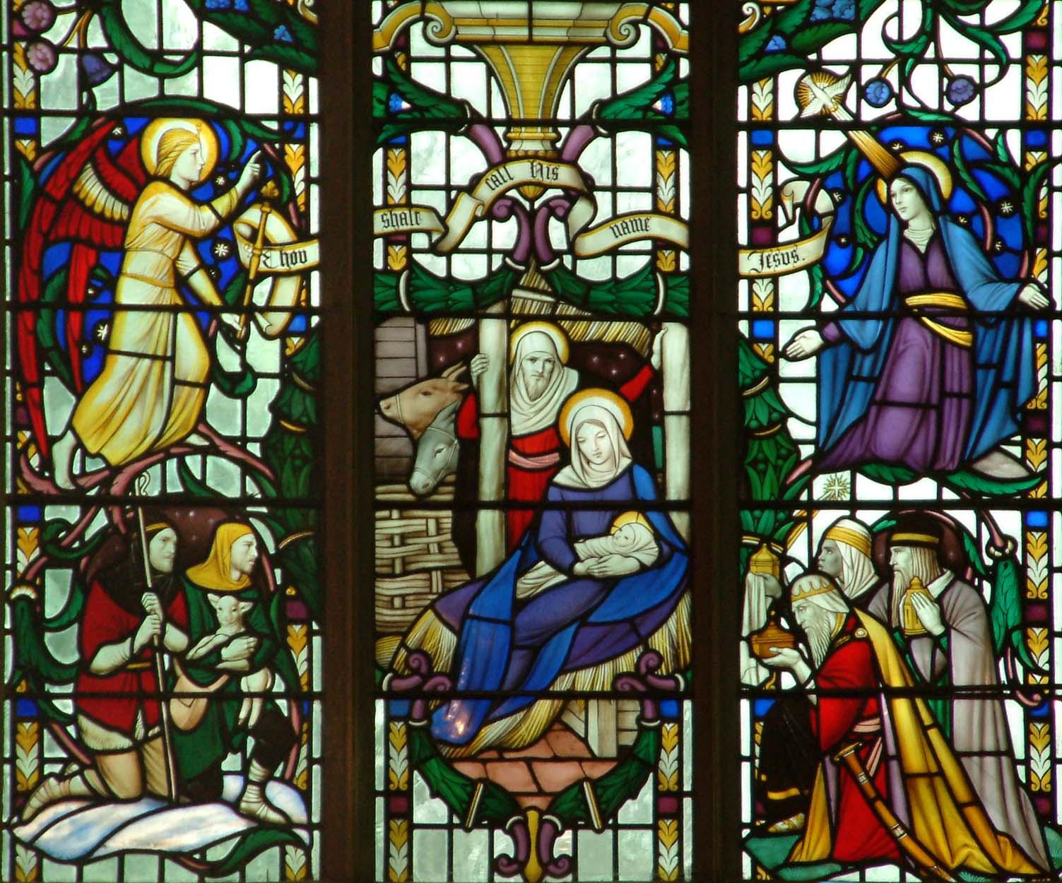 Nativity window ©John Crook