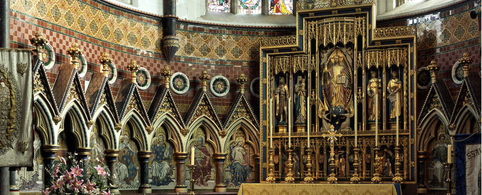 Detail of Apse mosaics and Reredos