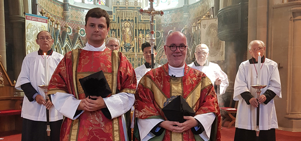 Fr Thomas (left) and Fr Mark (right)