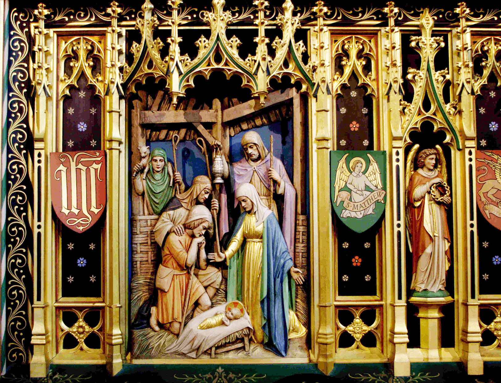 The Nativity - Rederos detail