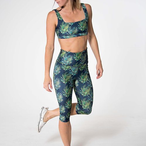 Capri High-Waist Legging - NEW Leaf Watercolour