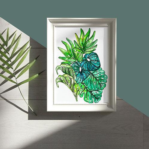 Leaf Mandala Watercolour