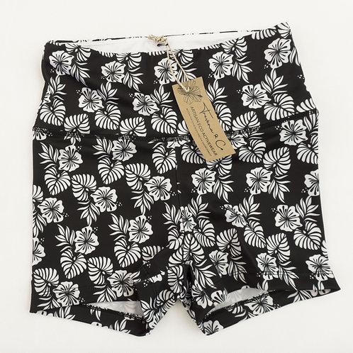 Bike Shorts High-waist Legging - Black and White Island