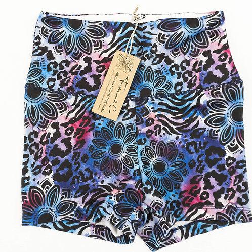 Bike Shorts High-waist - Animal Print