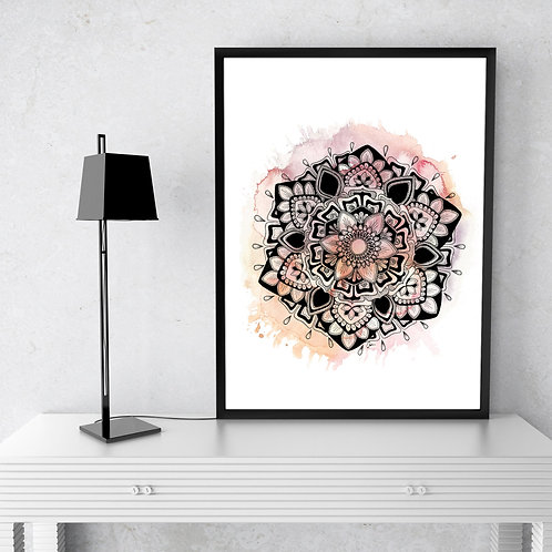 Light Pink Mandala Watercolour