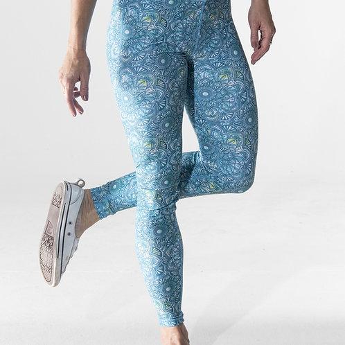 Long High-waist Legging - Mandala Watercolour