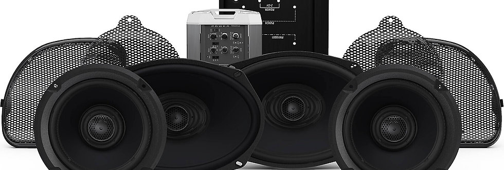 Rock Ford Fosgate 2014+ R/G CVO & S/G CVO 4 Speaker & Amp Kit