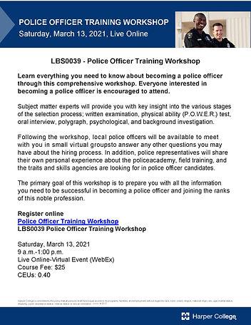 Flyer -Police-Officer-Training-Workshop