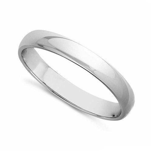 14k White Gold 3-mm Standard-fit Polished Wedding Band