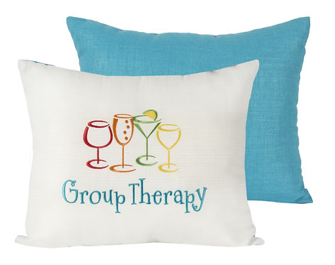 """Throw Pillow """"Group Therapy"""""""