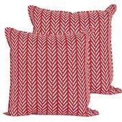 Throw Pillow - Red/White