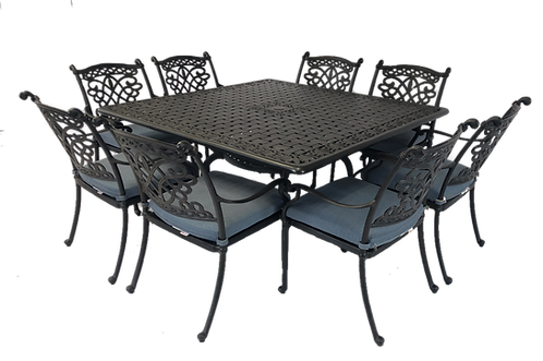 Dynasty Dining 9 Piece set with square table