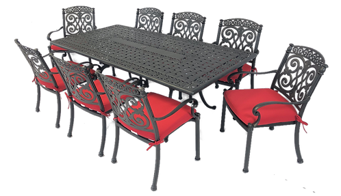 Barcelona Dining 9 Piece set (with rectangle table)