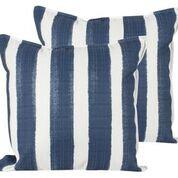 Throw Pillow - Blue/White Stripe