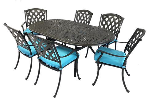 Mirage Dining 7 Piece set (with oval table)