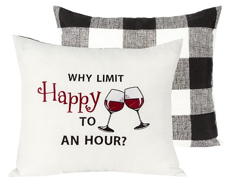Throw Pillow - Happy Hour