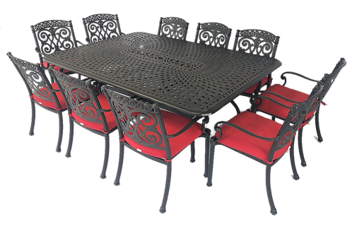 Barcelona Dining 11 Piece Set with Ballerina table